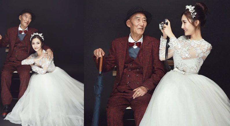 新郎のいない「結婚写真」