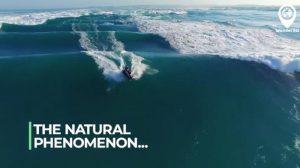 なんとも不思議! 見たことのない滑らかな美しい波
