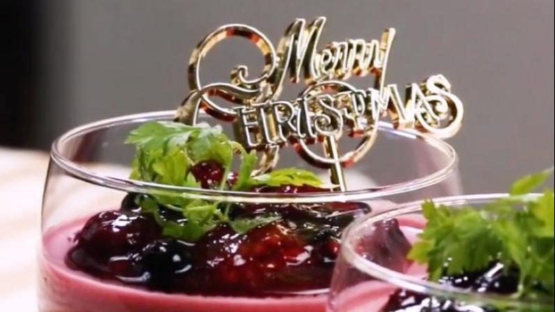 【レシピ動画】ヨーグルトとベリーの2層ムースでゴージャスなクリスマス