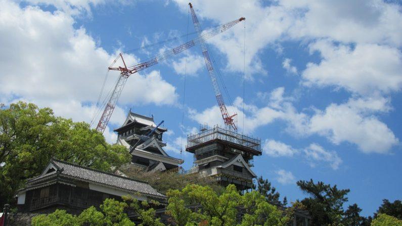 熊本地震から3年 復旧の進む熊本城天守閣