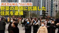 野菜の高値に抗議した封鎖都市住民が当局に拘束=湖北省応城市