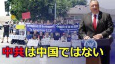 ポンペオ長官「中共は中国ではない」民主活動家らが支持集会