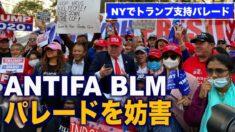 ニューヨークでトランプ支持パレードを妨害 暴徒数人を逮捕