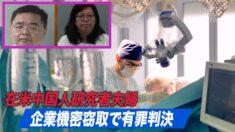 在米中国人研究者夫婦 企業機密窃取で有罪判決