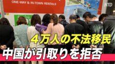 中国 4万人の不法移民の引取りを拒否
