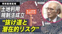 土地利用規制法が日本で成立