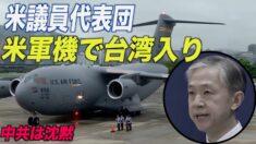 米議員代表団が米軍機で台湾入り 沈黙する中共