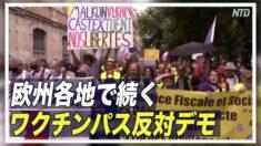 欧州 ワクチン接種証明義務化への抗議デモ広がる
