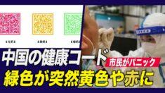 中国の健康コードアプリに異変 緑色が突然黄色や赤色に